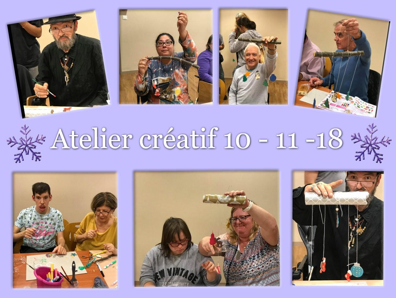Atelier créatif 10.11.2018