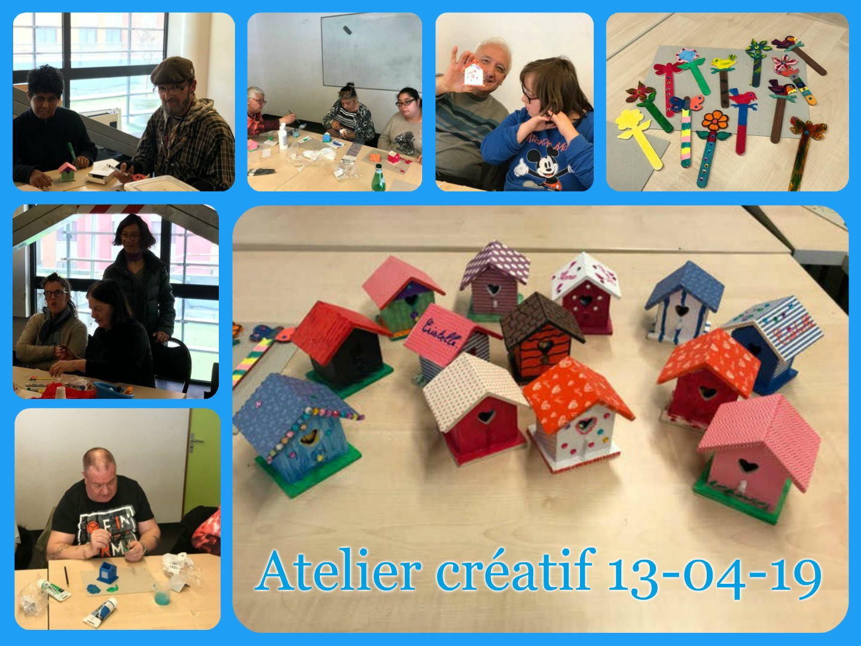 Atelier créatif 13.04.2019