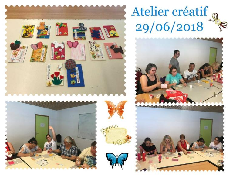 Atelier créatif 29.06.2018