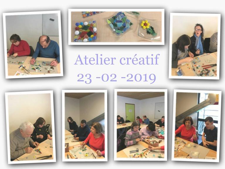 Atelier créatif 23.02.2019