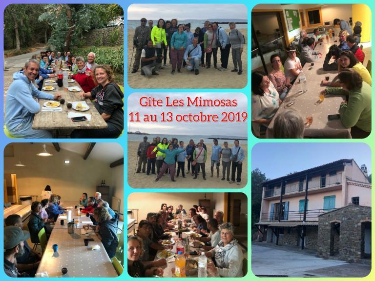 Gîtes Les Mimosas 11 au 13.10.2019