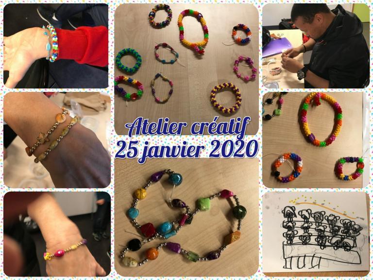 Atelier créatif 25.01.2020