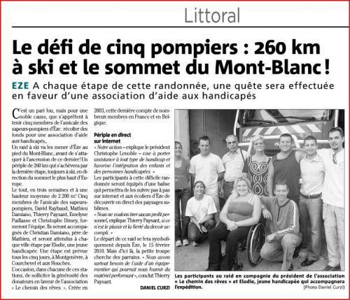 Article raid nice matin 06 10 09